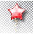 star red balloon on transparent background party vector image