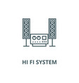 stereo sound hi fi system line icon vector image vector image