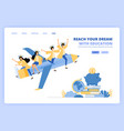 students wear toga and ride pencil metaphor vector image vector image
