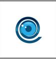 technology eye orbit web rings logo design vector image