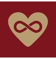 The heart and infinity icon Heart And Infinity vector image