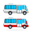 urban minibus flat isolated vector image vector image