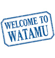 Watamu - welcome blue vintage isolated label vector image vector image