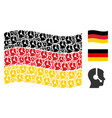 waving german flag mosaic of operator icons vector image vector image