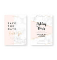 wedding card design with golden frames and marble vector image vector image