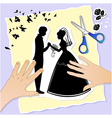 wedding scene vector image vector image