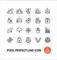 winter holiday sign black thin line icon set vector image