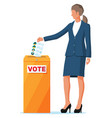 woman on election vector image