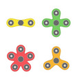 hand spinner toys set vector image