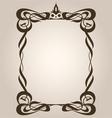 Art Nouveau Frame vector image