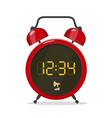 analog style alarm clock with digital display vector image