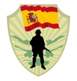 Army of Spain vector image vector image