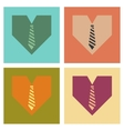 assembly flat icons heart tie vector image