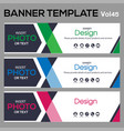 bannertemplate for business webdesign vector image