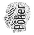 best online poker site text background wordcloud vector image vector image
