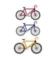 Bikes in Flat Design vector image