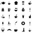 cafe icon set vector image vector image