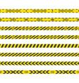 caution lines coronavirus vector image vector image