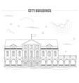 City buildings graphic template City buildings vector image vector image