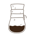 coffee brew method chemex line icon style vector image vector image