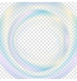 Colorful abstract transparent circle background vector image vector image