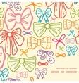 colorful bows frame corner pattern background vector image vector image