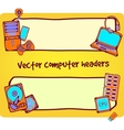 computer headers vector image