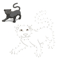 Connect the dots to draw animal educational game vector image vector image