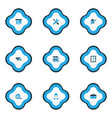 construction icons colored set with tipper vector image vector image