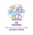 csr committee concept icon vector image vector image