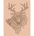 Deer coloring book for adults vector image vector image