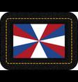 dutch flag the prinsengeus icon on black leather vector image