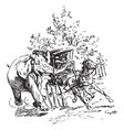 elephant and carriage vintage vector image vector image