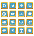 explosion icons azure vector image vector image