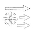 fan with arrows isolated icon vector image vector image