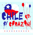 flat fiestas patrias design card with text chile vector image vector image
