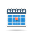 flat month calendar icon vector image vector image