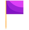 Food flag in purple color vector image vector image