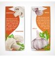 Garlic champignon banners vector image vector image