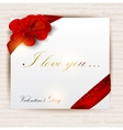 gift cards with ribbons background vector image vector image