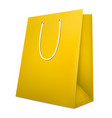 gold shopping bag isolated on white vector image