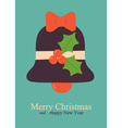 greeting card with bell vector image