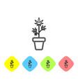 grey line medical marijuana or cannabis plant in vector image vector image