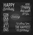 hand drawn lettering slogans for birthday vector image vector image