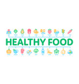 healthy food minimal infographic banner vector image