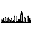 hong kong skyline vector image vector image