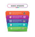 infographic template with 3d paper label vector image vector image