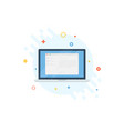 laptop with open browser on shape abstract vector image vector image