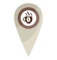 map pin coffe break vector image vector image