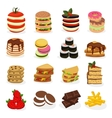 Meal Tower Icon Set vector image